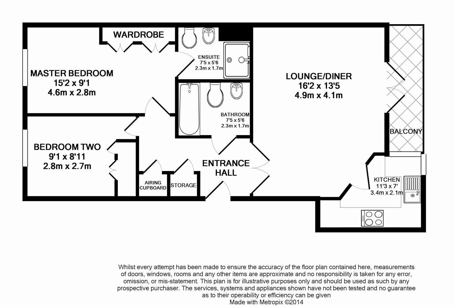 Floorplan for Albion Way, Horsham